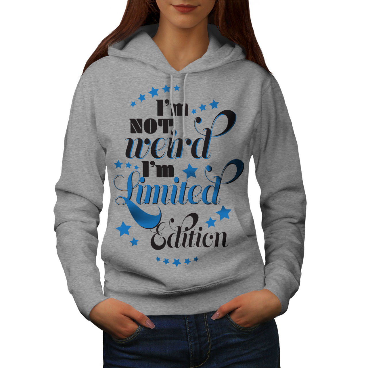 Wellcoda Not Weird Saying Womens Hoodie Edition Casual Hooded Sweatshirt
