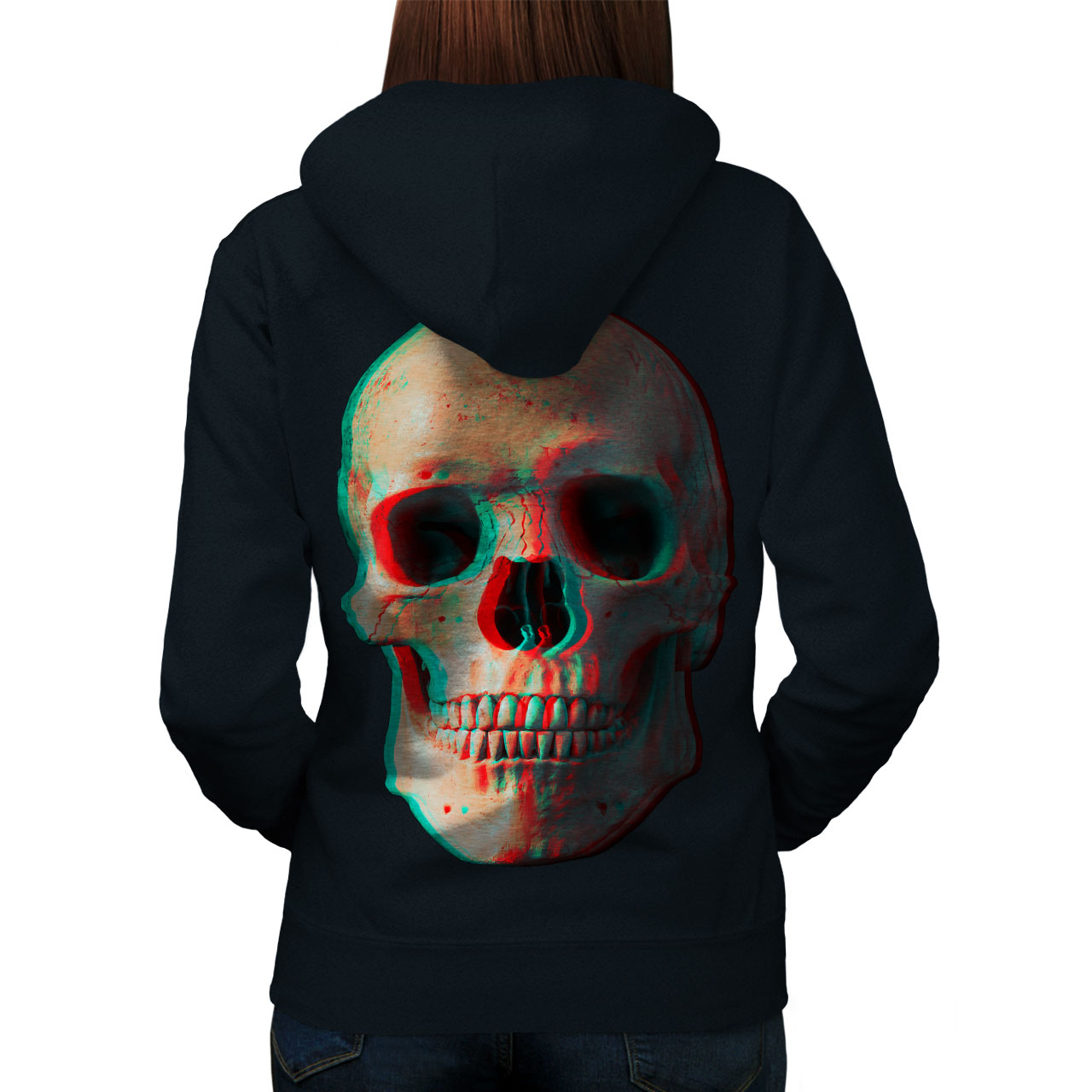 3D Human Skeleton Skull Women Hoodie Back NEW | Wellcoda | eBay