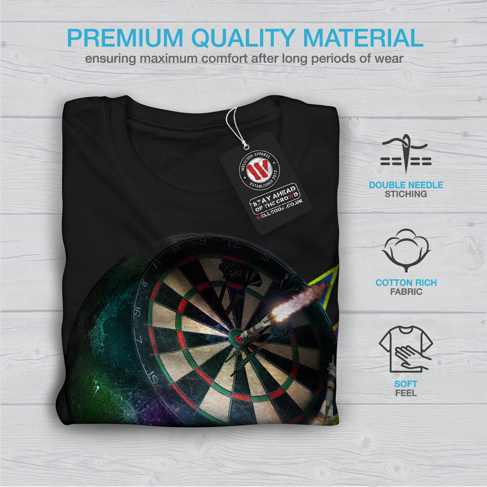 miniature 7 - Wellcoda Dart Board Gaming Womens T-shirt, Achieve Casual Design Printed Tee