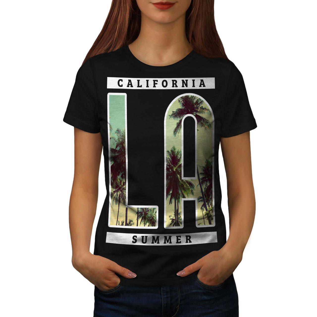 M Slim Fit NEU /& OVP Herren T-Shirt California schwarz mit Aufdruck Gr