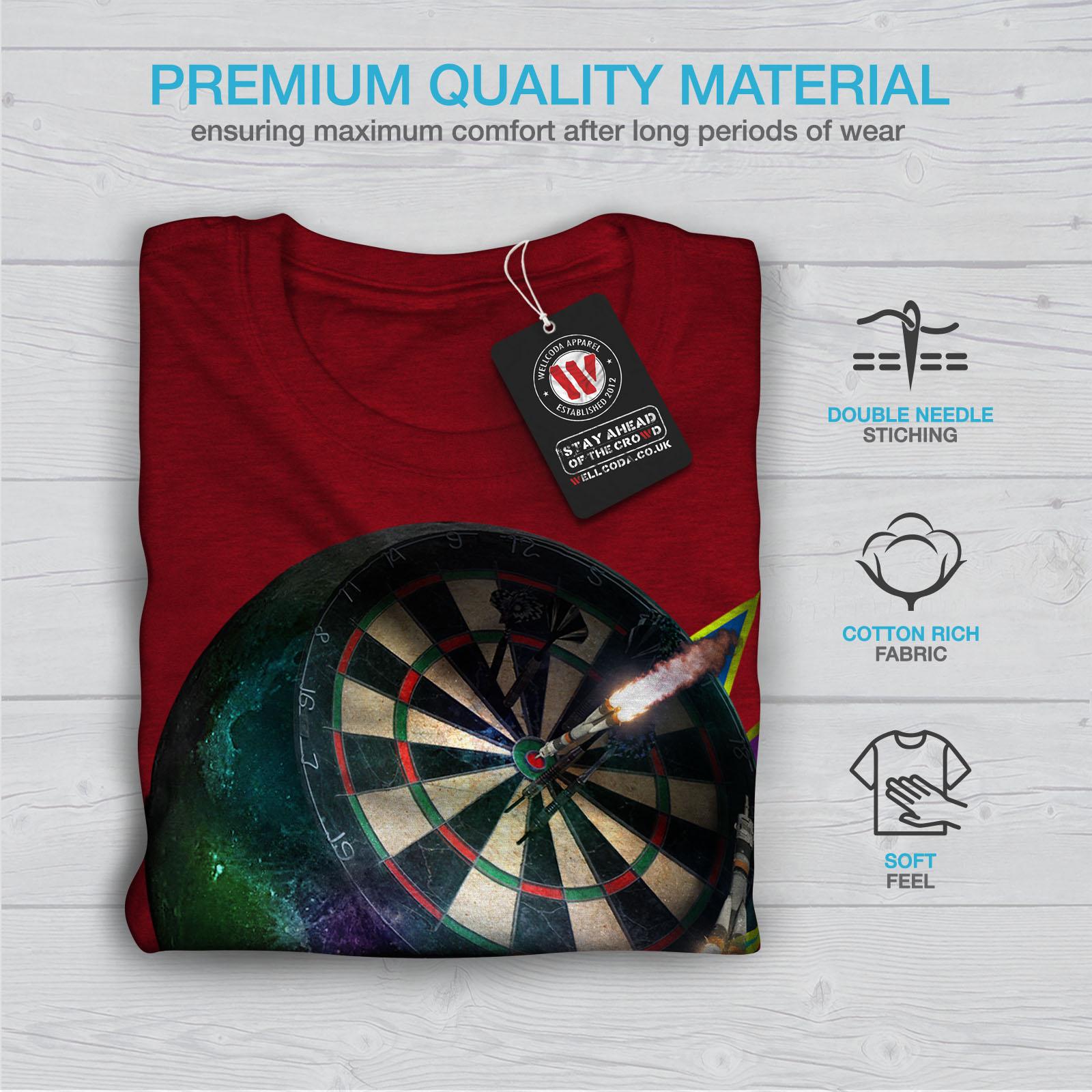miniature 13 - Wellcoda Dart Board Gaming Womens T-shirt, Achieve Casual Design Printed Tee
