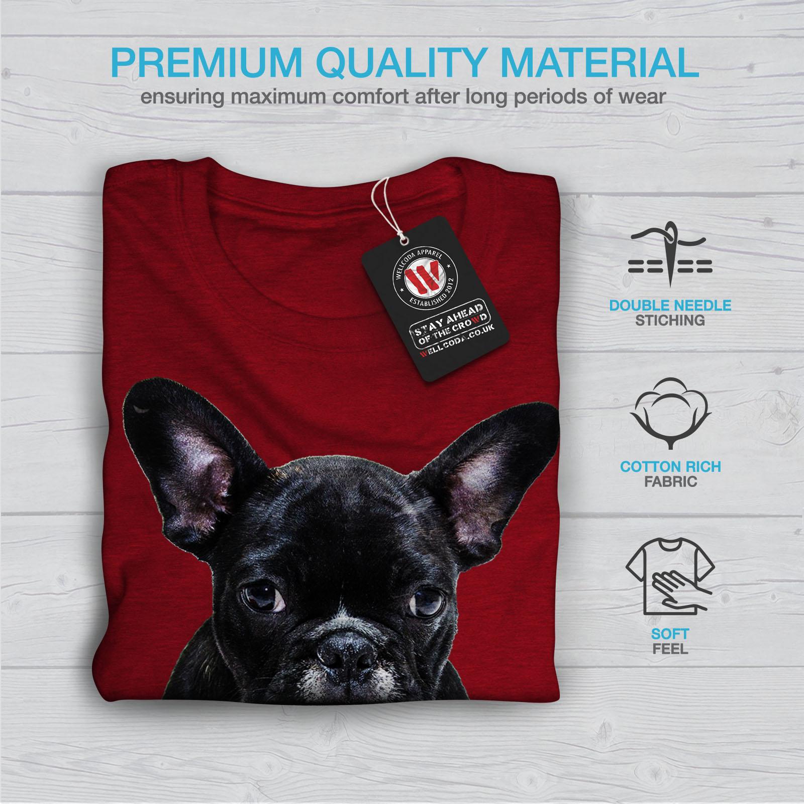 Wellcoda-Fancy-French-Bulldog-T-shirt-Femme-Noir-Casual-Design-Imprime-Tee miniature 13