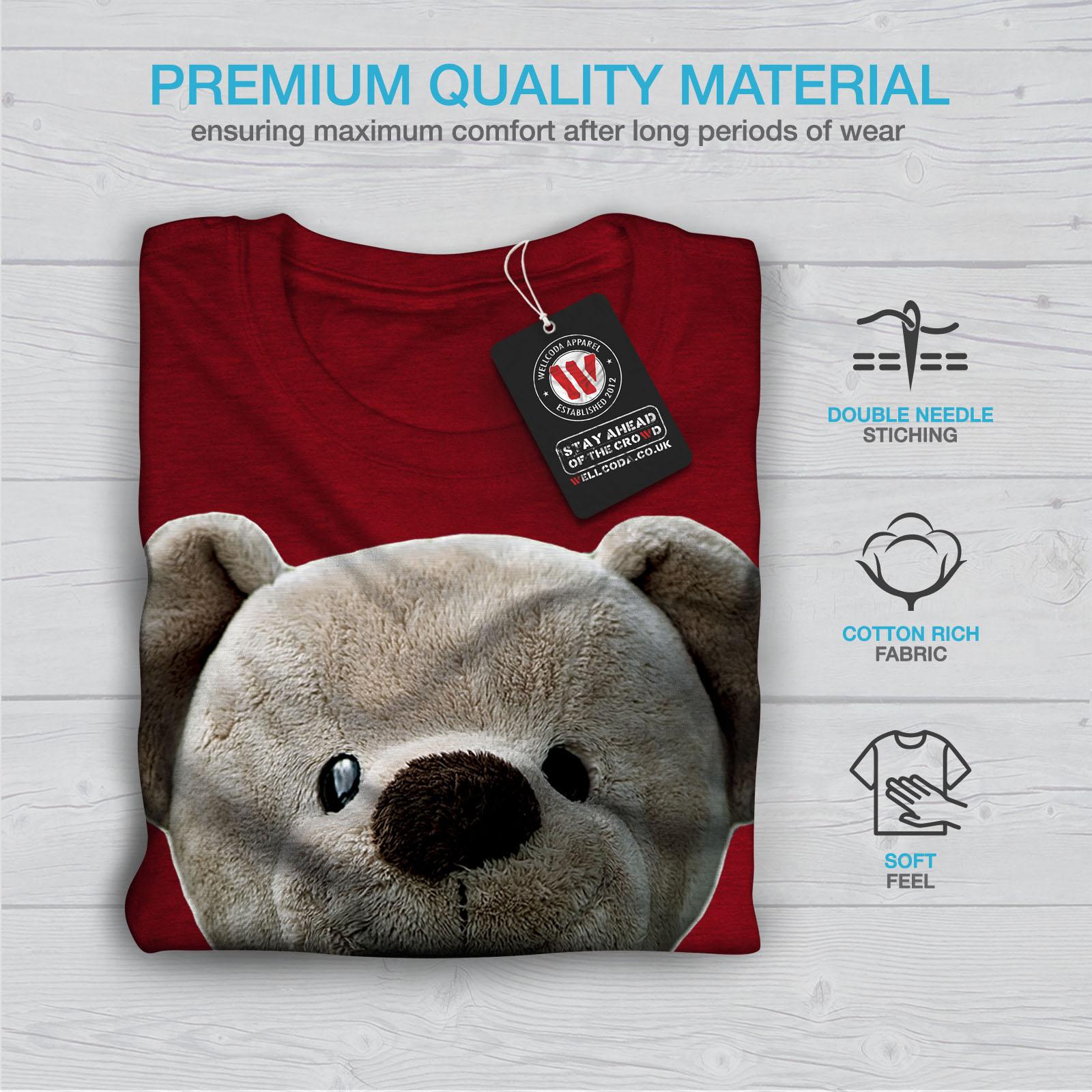 miniature 13 - Wellcoda Cute Plush Womens T-shirt, Teddy Bear Casual Design Printed Tee