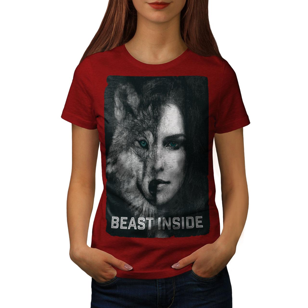 Wellcoda Forest Wolf Beast T-shirt homme Danger design graphique imprimé Tee