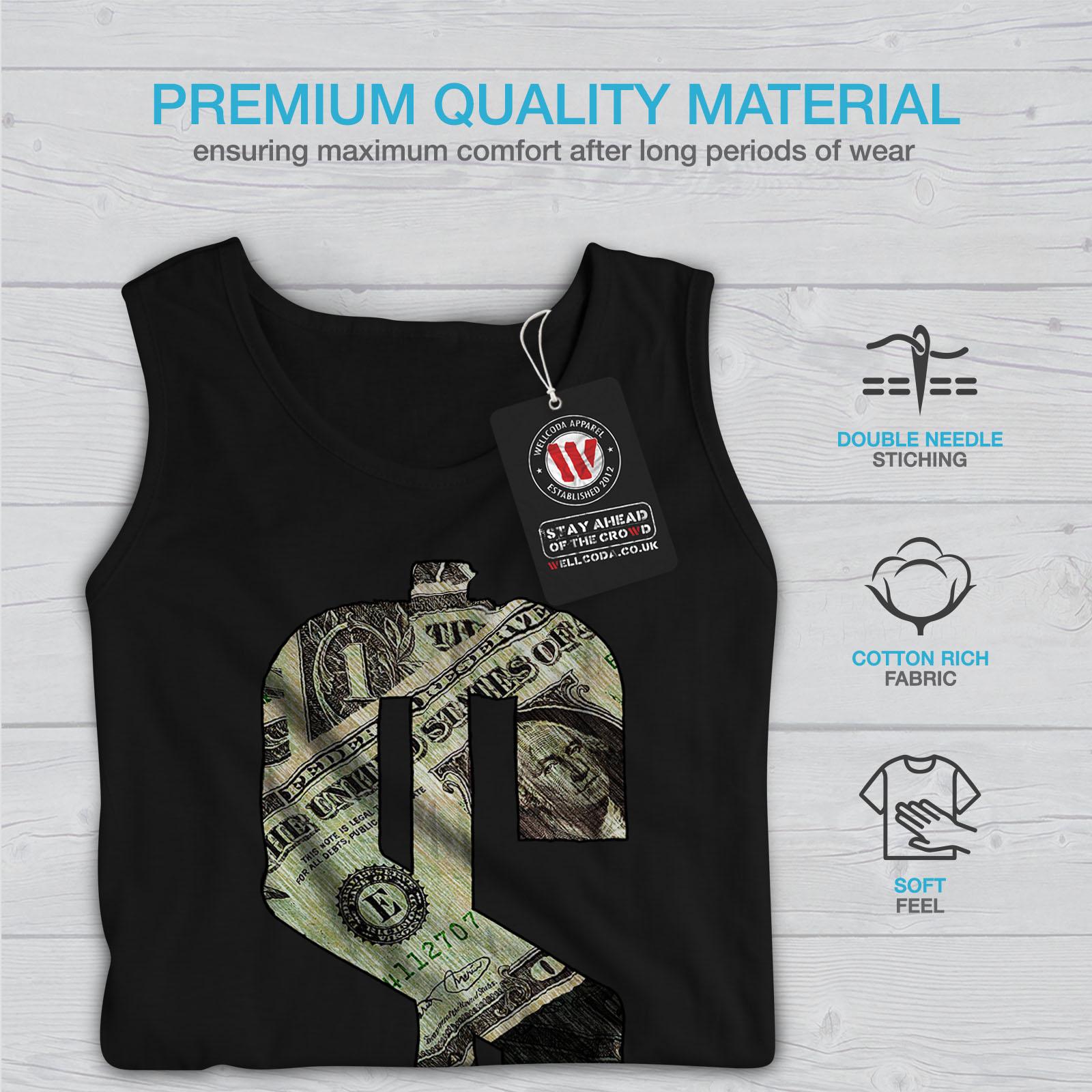 dollar bill symbol women tank top new wellcoda ebay
