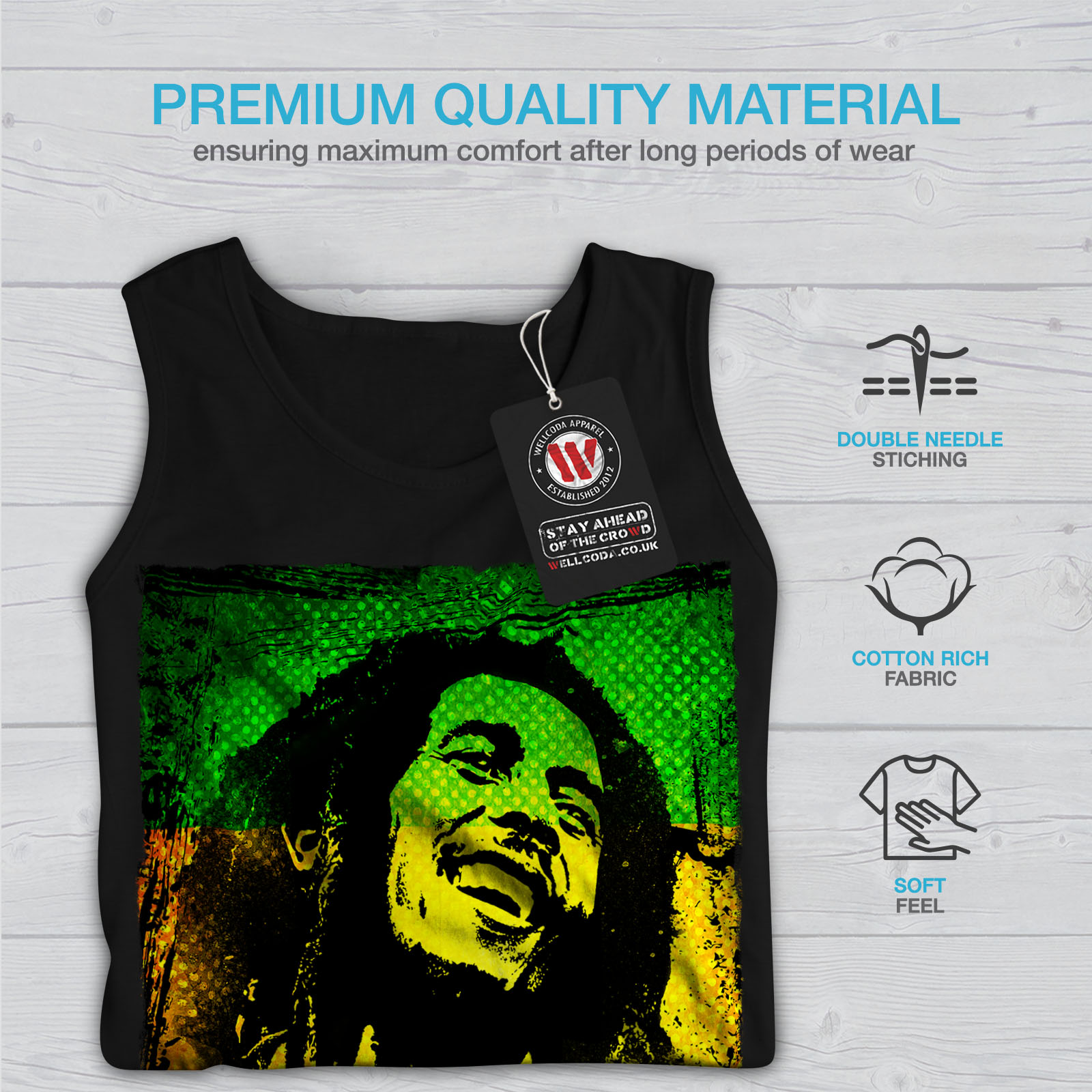 Rastafari Casual Hooded Sweatshirt Wellcoda 420  One Love Pot Mens Hoodie
