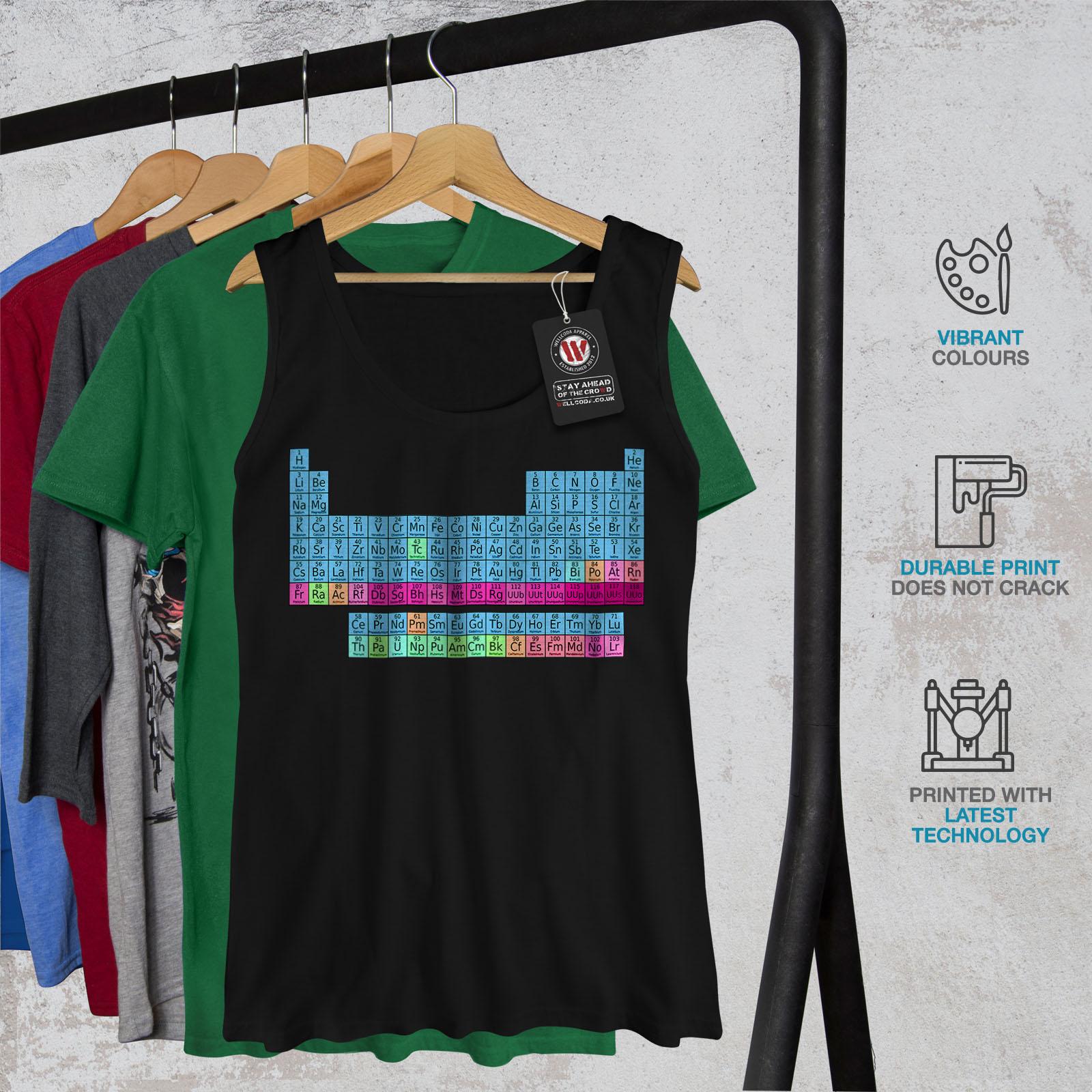Chemistry Graphic Design Tee Wellcoda Periodic Table Womens V-Neck T-shirt