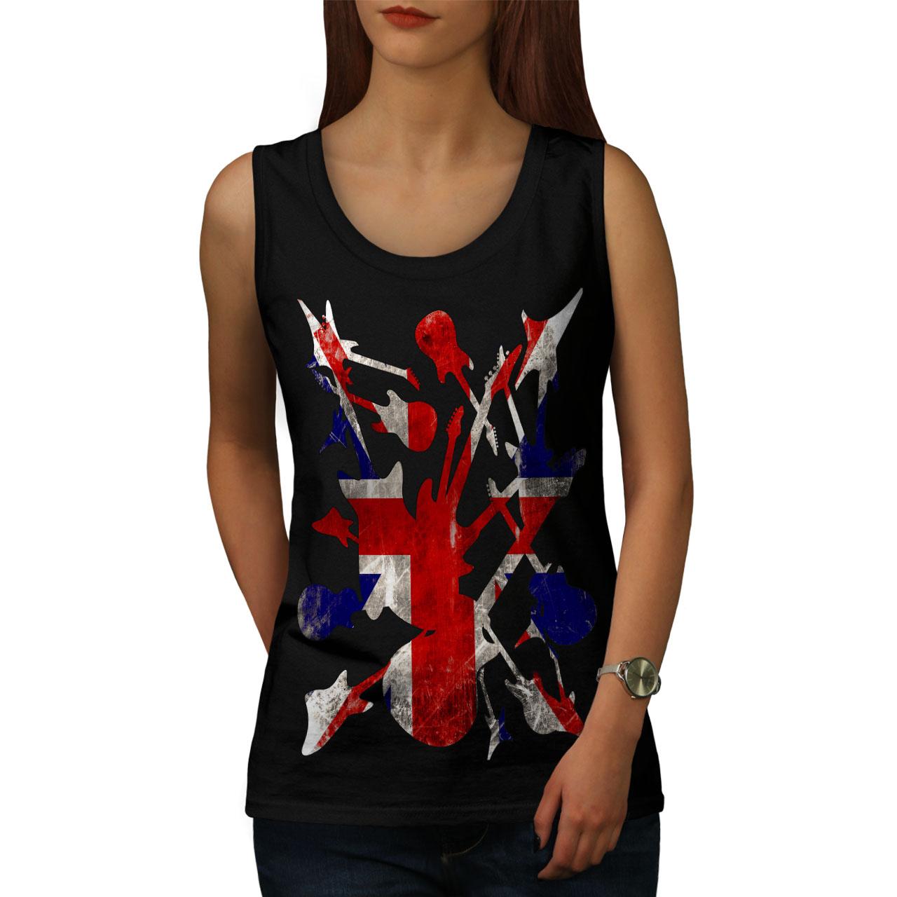 Rock/&Roll Britain Women Tank Top NEWWellcoda