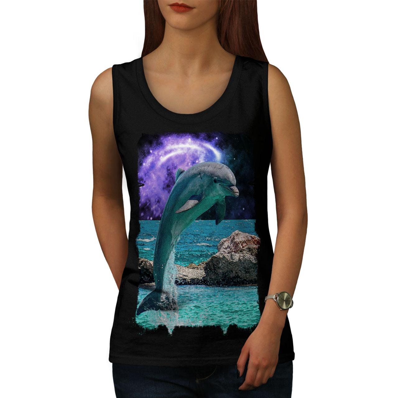 Ocean Rock Dolphin Women Tank Top NEWWellcoda