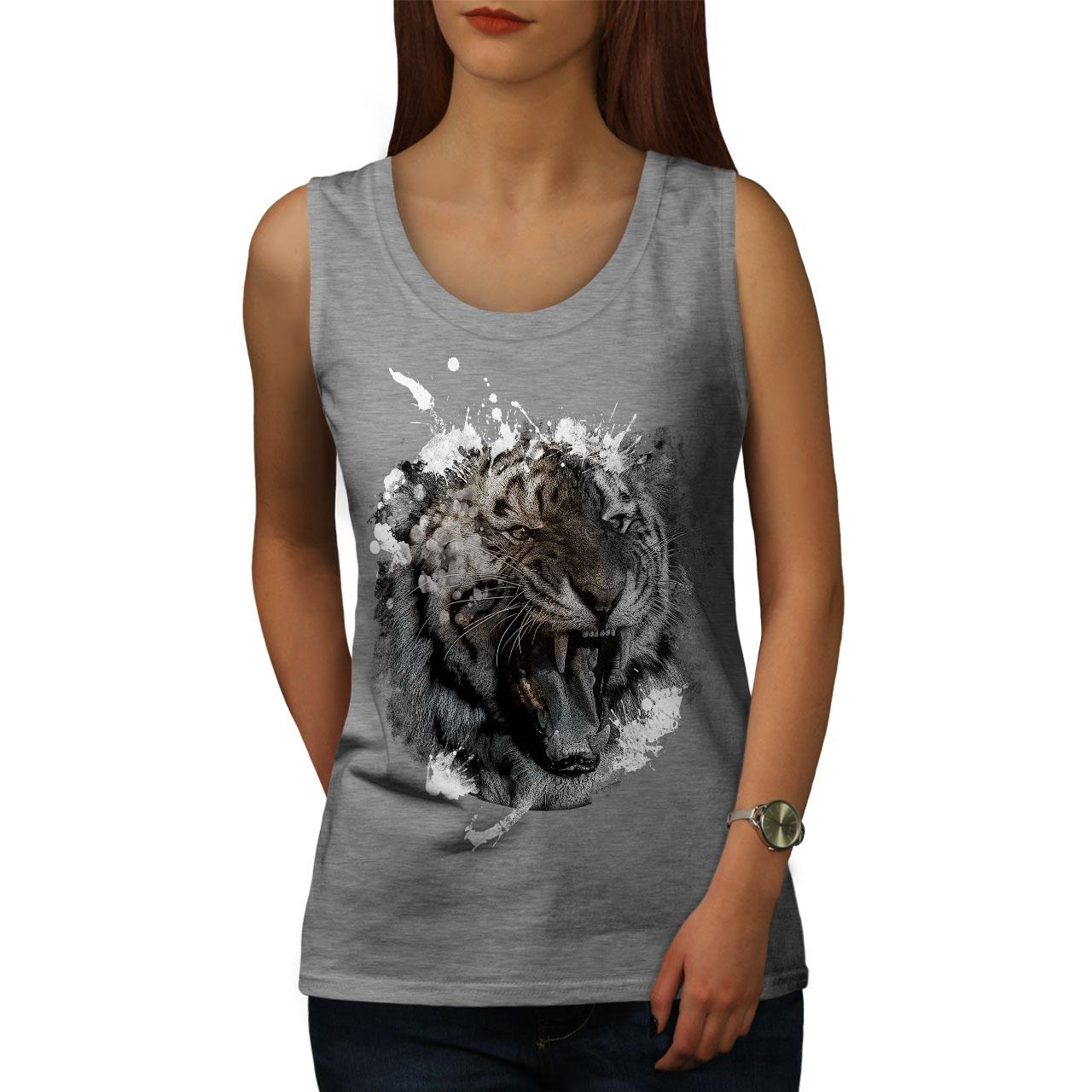 Wild Animal Tiger Beast Women Tank Top NEWWellcoda