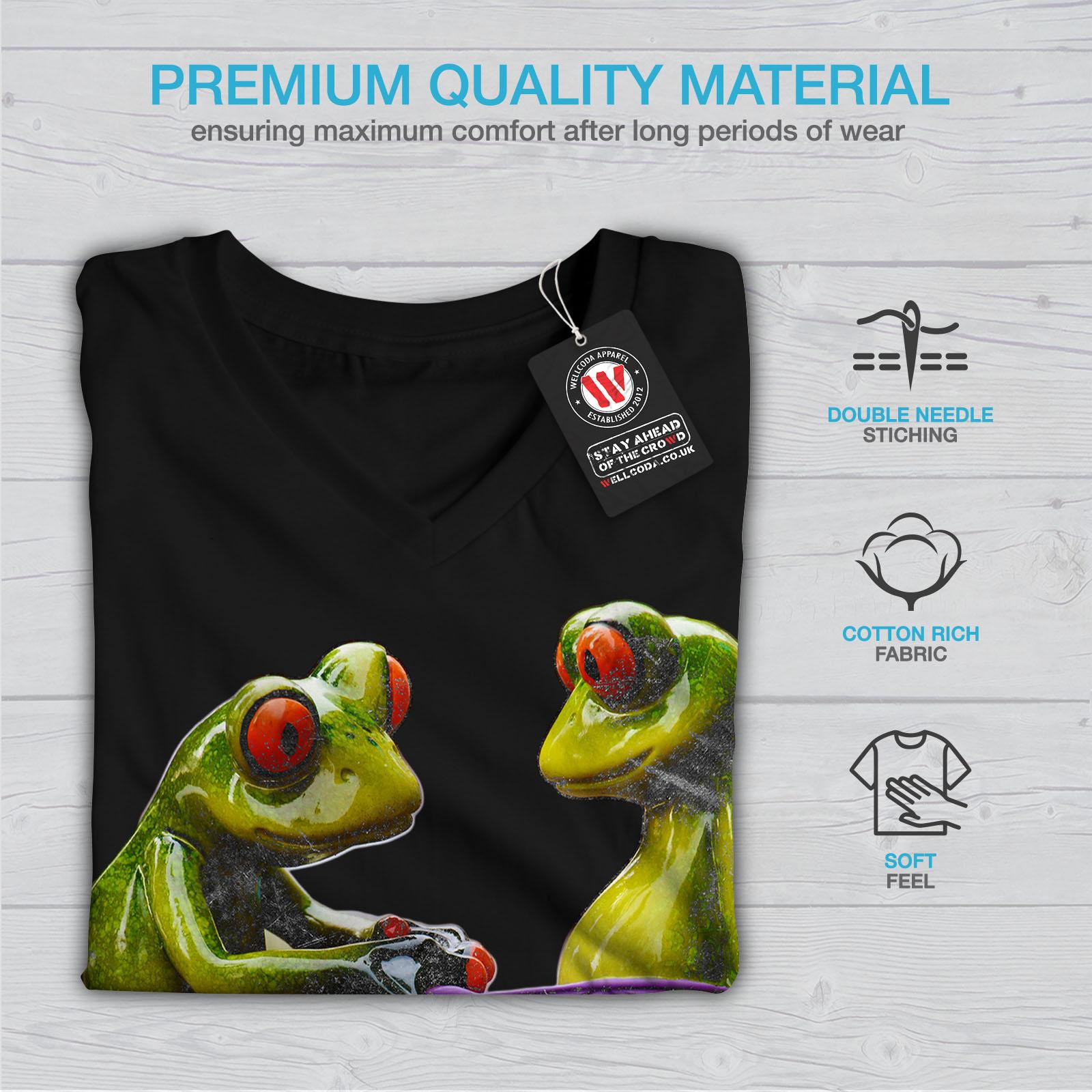 Wellcoda-RANE-Cool-scherzo-da-Donna-V-Neck-T-shirt-Biancheria-Intima-Design-Grafico-Tee miniatura 5