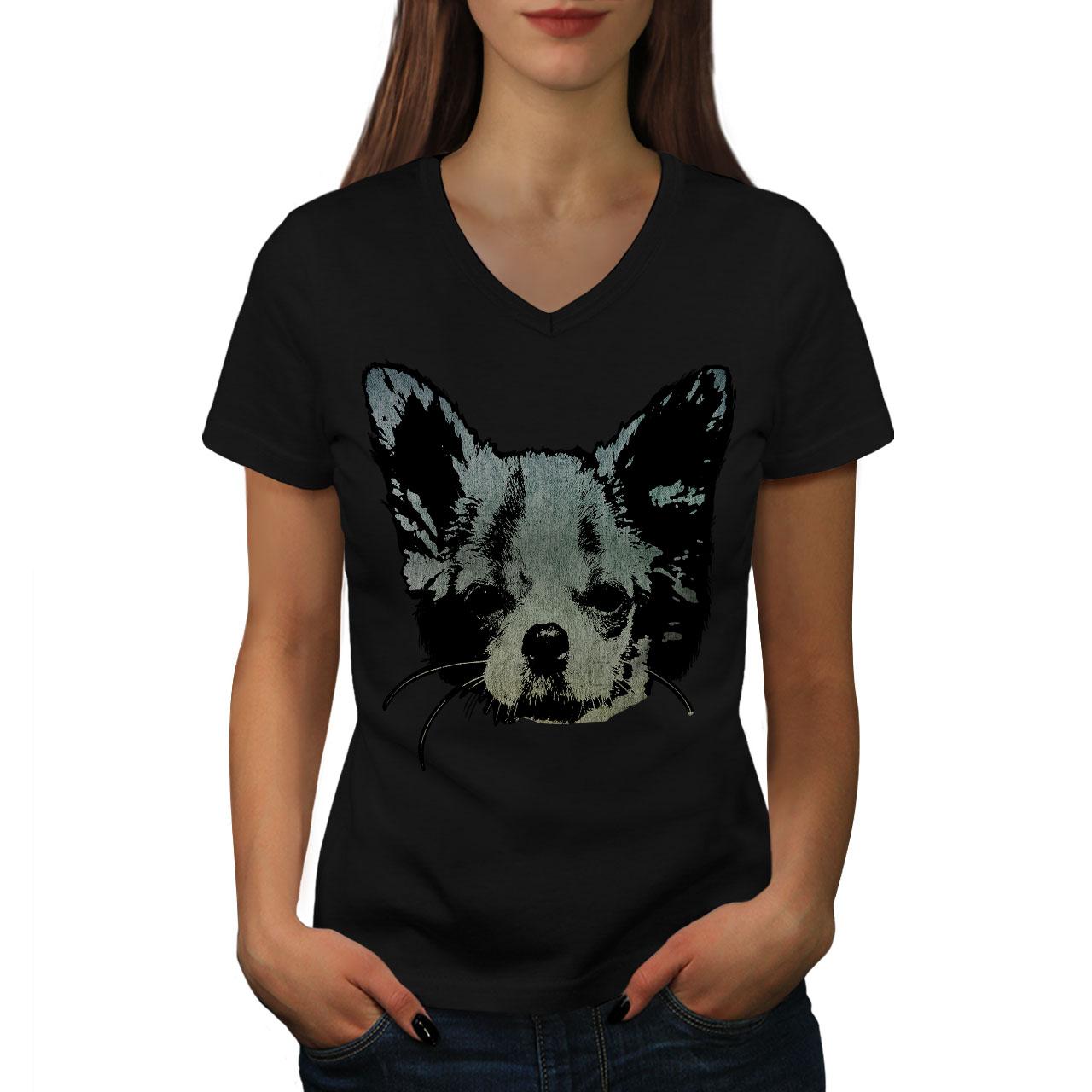 Prestige Casual Design Wellcoda Chihuahua Face Cute Womens Long Sleeve T-shirt