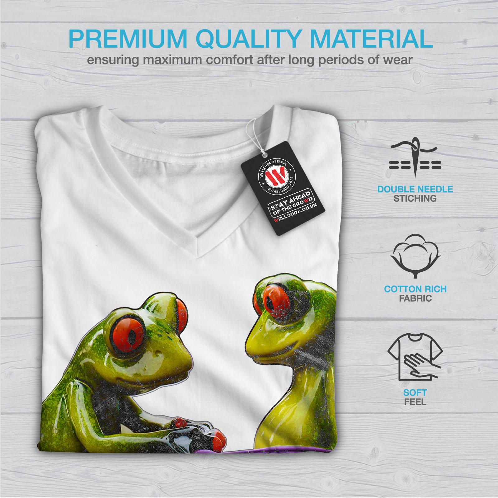 Wellcoda-RANE-Cool-scherzo-da-Donna-V-Neck-T-shirt-Biancheria-Intima-Design-Grafico-Tee miniatura 9