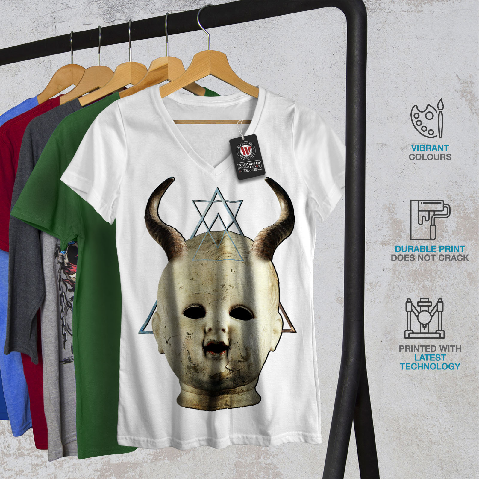 Space Deer Cool Animal Women V-Neck T-shirt NEWWellcoda