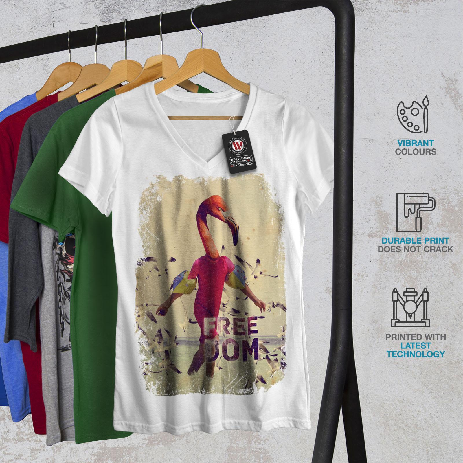 Flamingo Freedom Animal Men Long Sleeve T-shirt NEWWellcoda